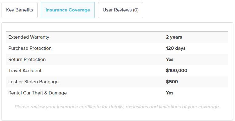 creditcardGenius card insurance tab